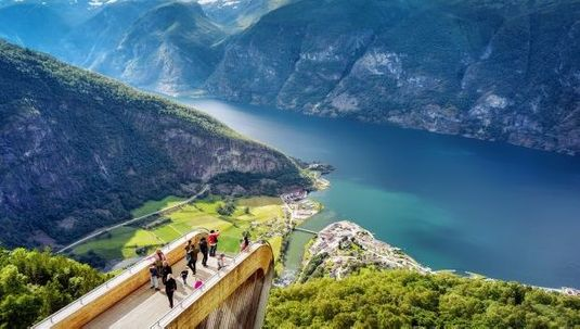 Viewpoint at Stegastein - Norway